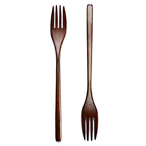 Vaisselle Fourchette en Bois 5pcs Enfants Fourchette en Bois /à Long Manche Desserts Salade Fourchette Vaisselle Classicoco Fourchette