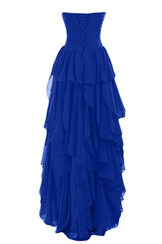 High Evening Dress Prom Gown Party Blevla Chiffon Low Party Blue Royal gx4aqWFwd