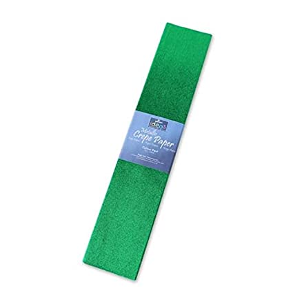Metallic Crepe Paper 2.5 Metres x 50cm Ideal for Art /& Crafts Gift ~ Blue