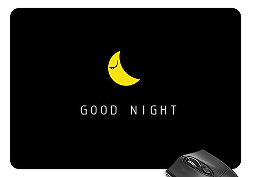 Mouse Mat Moon - Good Night Mouse Pad 11.8 X 9.8