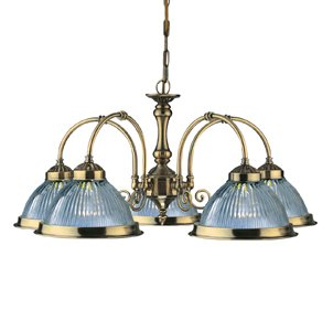 Americana   Traditional East Coast Style 5 Arm Ceiling Light Antique Brass    Houseoflights