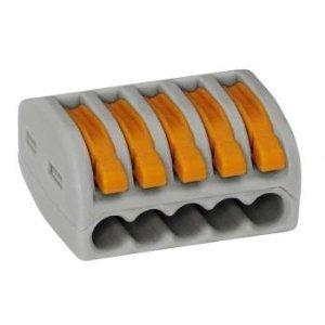 Wago 222-415 LEVER-NUTS 5 Conductor Compact Connectors 40 PK by Wago (Wago Block Terminal)