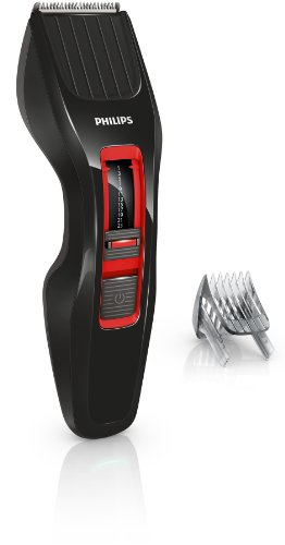 Philips HC3420/15 Haarschneider (Dual Cut Technologie), Akku/Netz, schwarz-rot