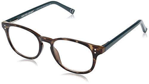 Foster Grant Women's Elodie 1017869-150.COM Round Reading Glasses, Brown Tortoise, - Low Glasses Price