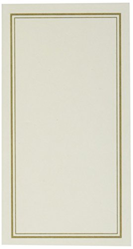 C.R. Gibson Vanilla and Gold Table Place Cards for All Occasions, 20pc, 3 W x 1.75 H