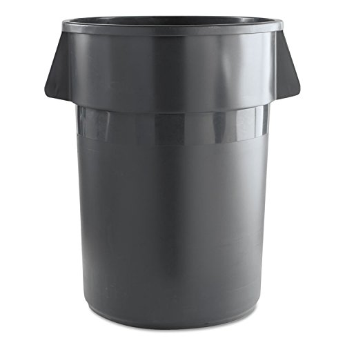 UNISAN Round Waste Receptacle, Plastic, 44 gal, Gray - one waste receptacle. by Unisan