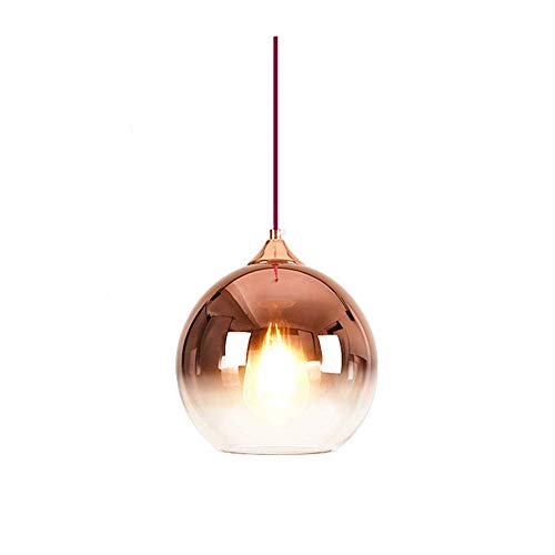 Wsxxn Modern Two-Tone Chandelier Hanging Lamp with Clear Glass Ball, Ceiling Pendant Light (Color : Rose Gold, Size : ()