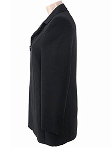 Eleganter Business-Blazer für Damen in Schwarz gefüttert ROE77, Gr. 34
