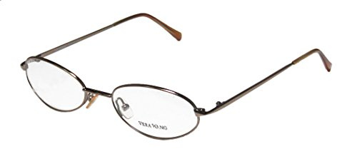 Vera Wang V41 Womens/Ladies Designer Full-rim Eyeglasses/Eyeglass Frame (52-18-140, Shiny Brown)