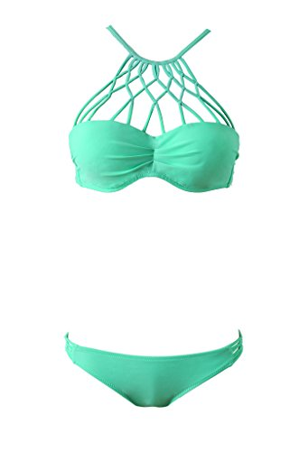 Vogueric Womens Strappy Padded Bathing