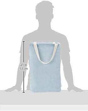 Contenitore portaoggetti in tessuto alto blu antico Basics cubico