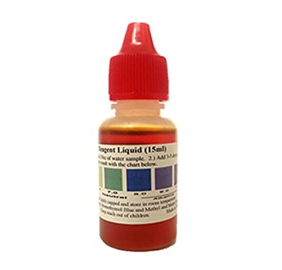 pH test liquid, pH Chart included (About 75 tests), Red Cap