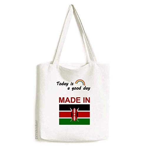 Made In Kenya Country Love Tote Canvas Bag Craft Washable Fashion Shopping Handbag