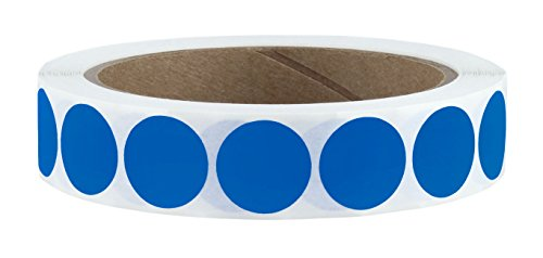 "3/4"" Dark Blue Color Code Dot Labels on Cores - Permanent Adhesive, 0.75 inch - 1,000/Roll"
