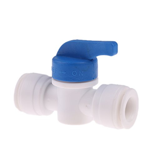 Od Tube Shut Off Valve (MagiDeal 3/8 ''OD Tube Ball Valve Quick Connect Shut Off for RO Water Reverse Osmosis)