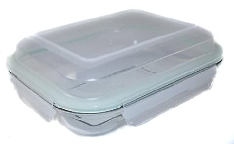 Kinetic Go Green Glasslock Plus Series 30-Ounce Rectangular Food Storage