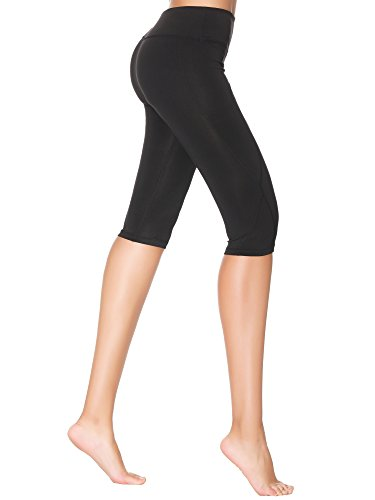 Yoga Capris Pants for Women,3/4 Workout Running Dry Wicking Yoga Capris Leggings