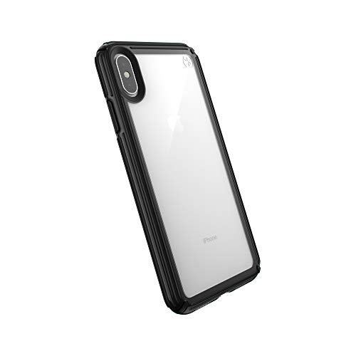 Speck Products Compatible Phone Case for Apple iPhone Xs Max, Presidio V-Grip Case, Clear/Black