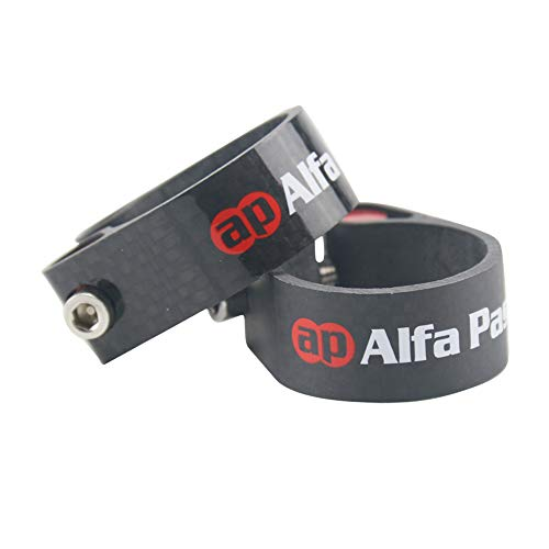 Alfa Pasca Seatpost Clamp 31.8/34.9mm MTB/Road Bike Carbon Seat Clamp(3K - Seatpost Carbon Clamp