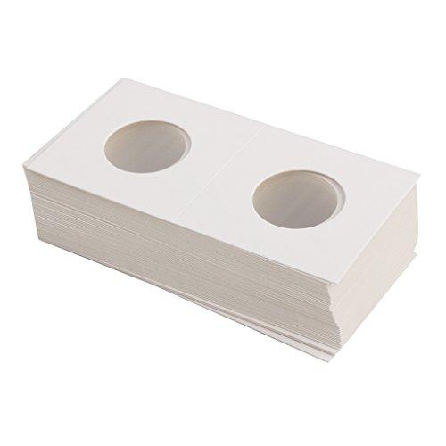 Bundle of 50 2x2 Mylar Cardboard Coin Flips for Storage Holder 25mm