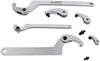 ABN Adjustable Hook /& Pin Wrench Spanner Tool Bicycle Bike Nut Adjustment Set