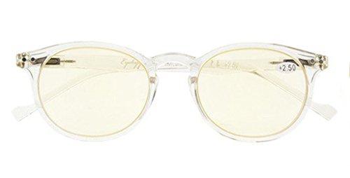 UV Protection,Anti Blue Rays,Reduce Eyestrain,Oval Computer Reading Glasses