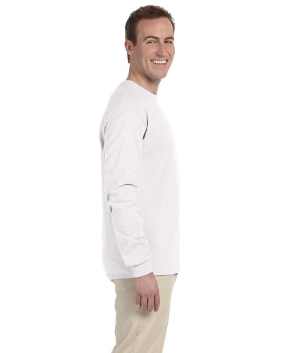 Gildan Men's Ultra Cotton Adult Long Sleeve T-Shirt, 2-Pack, White, (Classic Adult White T-shirt)