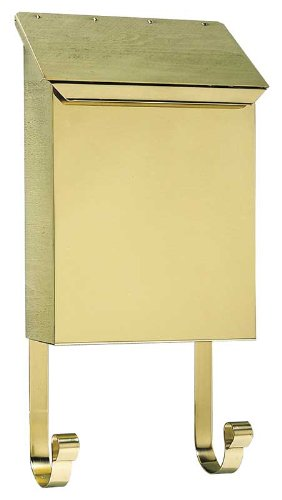 Vertical Mailbox in Smooth Polished Brass Finish