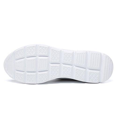 Zapatillas Zapatillas Hombre Deportivos Ligero de Zapatos Gimnasia Hombres Gris de Caminar Deporte de de Para Para Deporte Zapatos Peso rPHxrB