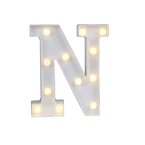 - LED Letter Lights, Ampersand & Symbol Love Heart Night Light Up Sign, Alphabet Atmosphere Lamp for Love Wedding Home Party Holiday Bar Decoration (N)