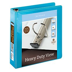 Office Depot(R) Brand Heavy-Duty D-Ring View Binder, 2in. Rings, 100% Recycled, Teal (Ring D-ring Binder View 2in)