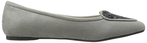 Penny Loves Kenny Womens Nookie Ballet Flat Grey Micro Suede