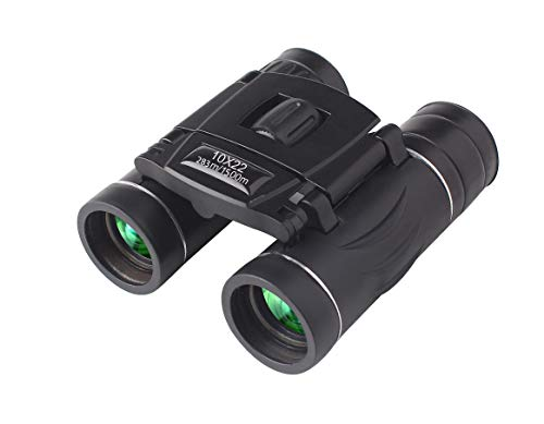 10x22 High Powered Binoculars for Adults | Small & Compact | Lightweight, with Weak Light Night Vision | Great for Outdoor, Bird Watching, Sports, Games, and Concerts
