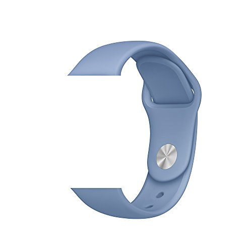 Vitech Soft Silicone Replacement Sport Band for 42mm Apple Watch Models (3 Pieces of Bands Included for 2 Lengths, for Apple Watch Series 1 Series 2 Sport&Edition 2016) (42mm-Azure)