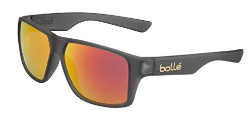mate Brillante Bollé Brecken Gafas cristal gris pc L Adulto tns pc Unisex Negro fire tns PPUrB