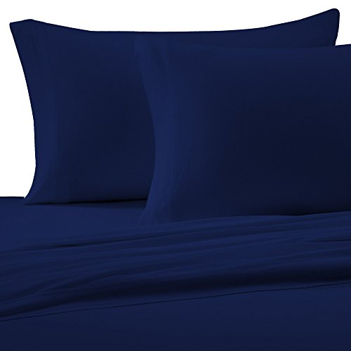 Brielle 100-Percent Cotton Jersey Knit Sheet Set, King, Navy