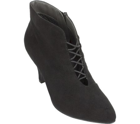 Womens Fashion Toe Almond Black Rialto Ankle Fabric MAXINE Suede Boots dIqAdSYx