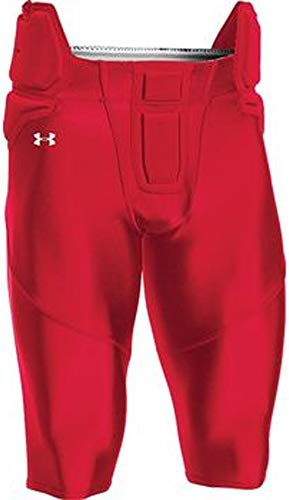 Under Armour Youth Integrated Football Pants (Medium, Scarlet)