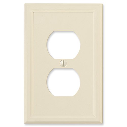 Questech Ivory Insulated Wall Plate/Switch Plate/Outlet Cover (Single Duplex)