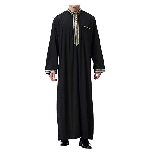 Xinvision Muslim Arab Men Thobe Thawb Robe - Islamic Kandoura Dubai Dishdasha by Xinvision