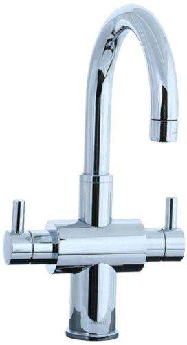 Cifial 221.105.625 Techno Monoblock Two Handle Lavatory Faucet, Polished Chromel