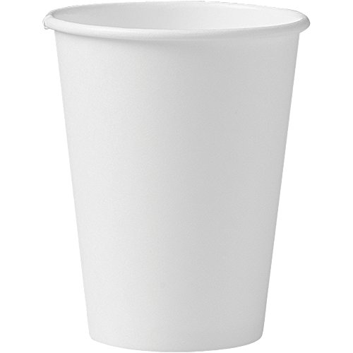 Solo 412WN-2050 12 oz White SSP Paper Hot Cup (Case of 1000) (Coffee White Small Cups)