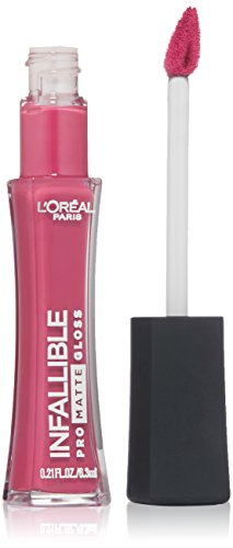 L'Oréal Paris Infallible Lip Pro Matte Gloss, Fuchsia Amnesia, 0.21 fl. oz.