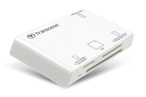 Transcend P8 15-in-1 USB 2.0 Flash Memory Card Reader TS-RDP8W (White)