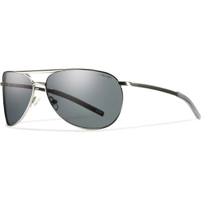 Smith Optics Serpico Slim Sunglasses (Gunmetal Frame w/Gray Polarized - Serpico Optics Smith Sunglasses