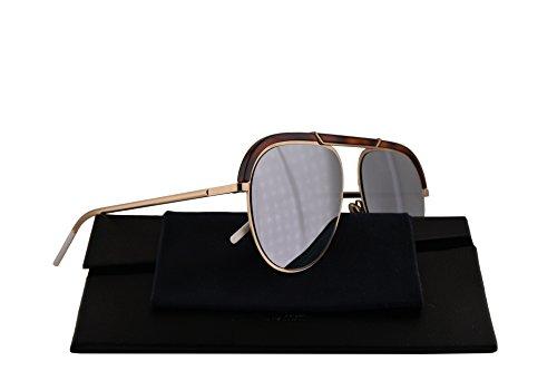 Christian Dior DiorDesertic Sunglasses Havana Gold w/Grey Silver Mirror Lens 58mm 2IK0T Dior Desertic