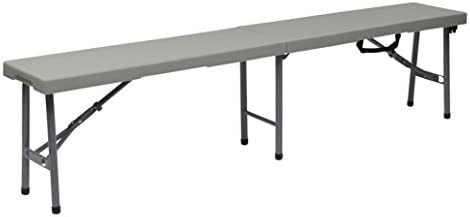 Office Star Resin Multi-Purpose Center Folding Bench, 6-Feet Long