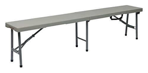 - Office Star Resin Multi-Purpose Center Folding Bench, 6-Feet Long