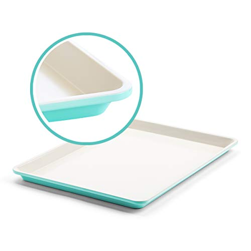 GreenLife Bakeware Healthy Ceramic Nonstick, Cookie Sheet, 18″ x 13″, Turquoise