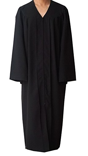Grad Days Unisex Adult Choir Robes Matte Finish Confirmation Robe Black 48 by Grad Days